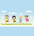 four children playing vector image vector image