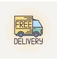 Free delivery truck vector image