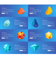 gemstone geological precious stones set vector image