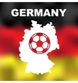 German Abstract Map vector image vector image