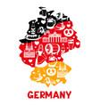german background design germany national vector image