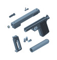 guns parts weapons for war equipments vector image