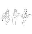 hand drawn sketch of woman fashion vector image
