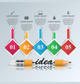 help 3d business infographics pencil icon vector image vector image