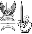 heraldry man vector image vector image