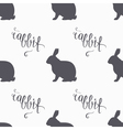Hipster style hare seamless pattern Rabbit meat vector image vector image
