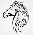 Horse Head Tattoo Design vector image