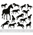 horses set vector image vector image