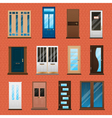 House Doors Set vector image vector image