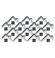 houses pattern icon vector image vector image