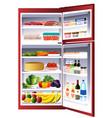 inside of a refrigerator vector image