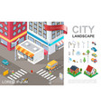 isometric cityscape composition vector image