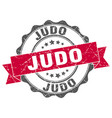 judo stamp sign seal vector image vector image