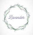 lavender wreath frame design element vector image