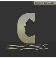 Letter C Broken mirror vector image vector image