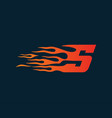 letter s flame logo speed logo design concept vector image vector image