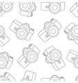 line seamless photo camera with shutter vector image vector image