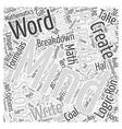 mindpuzzlesthestorieswecreate Word Cloud Concept vector image vector image