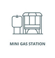 mini gas station line icon linear concept vector image