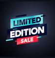 modern colorful limited edition sale banner vector image