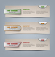 Modern horizontal banners with colored pointers vector image vector image