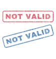 not valid textile stamps vector image vector image