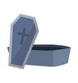 open coffin stone vampire style vector image