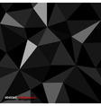 Origami texture black vector image vector image