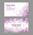 Purple abstract business card template design vector image