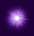 purple explosion graphic design background vector image vector image