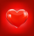 red background with heart vector image vector image