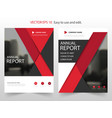 red materail design annual report leaflet vector image vector image