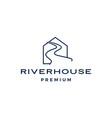 river house logo icon vector image vector image