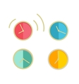 Round Wall Clock Set vector image vector image