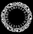 scandinavian viking design viking shield vector image vector image