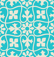 Seamless floral pattern colorful vintage vector image