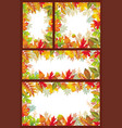 Set of seasonal banner of autumnal leaves