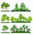 set trees background collection premium vector image vector image