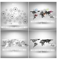 set world maps in perspective infographic vector image vector image