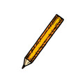 sharpened detailed pencil vector image