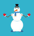 snowman oops new year and christmas vector image