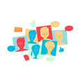 social community interact and share contents vector image