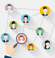 Social Network search and Social Media avatar vector image vector image