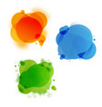 speech colourful bubble set vector image