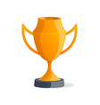 sport winner cup isolated icon vector image vector image