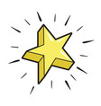 star yellow icon success and celebration design vector image