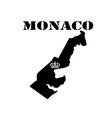 symbol of monaco and map vector image vector image