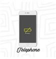 telephone mobile low battery white background vect vector image vector image
