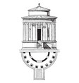 temple of vesta tivoli the early first century vector image vector image