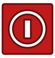 Turn Off Switch Toolbar Icon vector image vector image